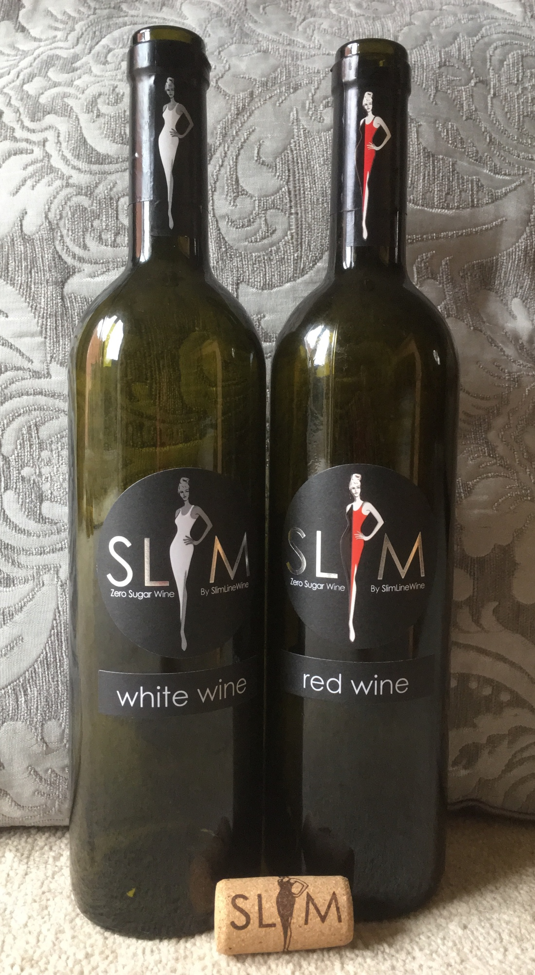 Slimline White and Red bottles