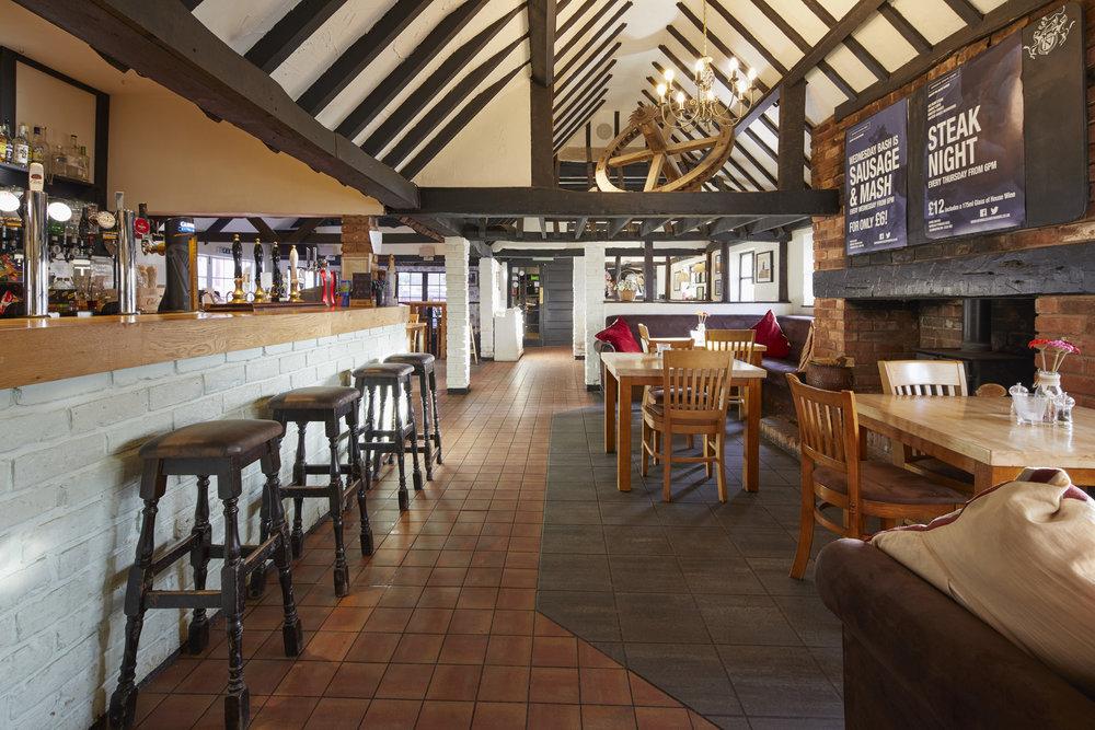 Inside Newbold pub